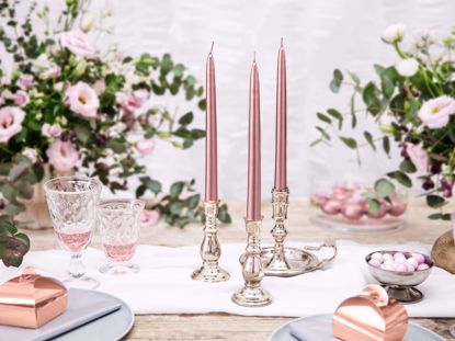 Picture of 3 Rose Gold Candles Taper