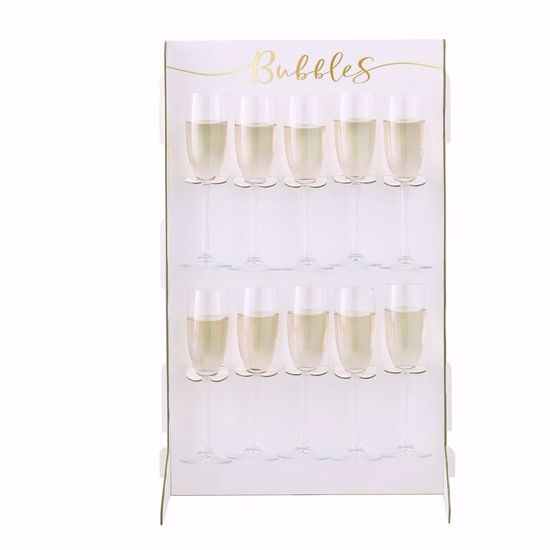 Picture of PROSECCO BUBBLY DRINKS Wall Holder - Gold Wedding