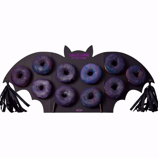 Picture of BAT SHAPED HALLOWEEN PARTY DONUT WALL - LET'S GET BATTY