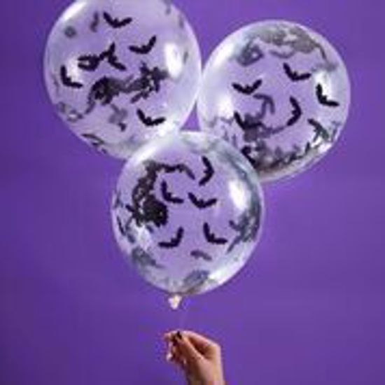 Picture of BAT SHAPED CONFETTI BALLOONS - CREEP IT REAL
