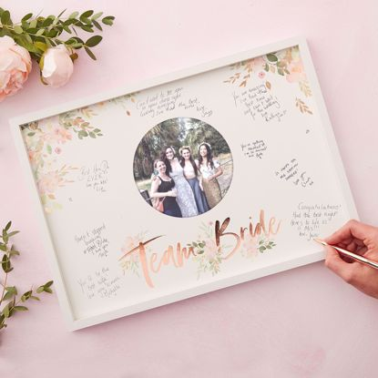 Picture of HEN PARTY FRAME GUEST BOOK - FLORAL HEN PARTY