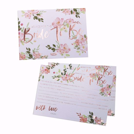 Picture of BRIDE TO BE ADVICE CARDS - FLORAL HEN PARTY