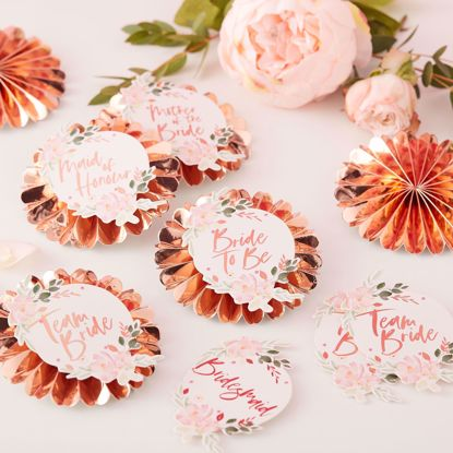 Picture of TEAM BRIDE BADGES - FLORAL HEN PARTY