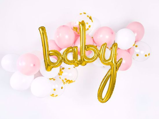 Picture of Baby Gold Script Balloon