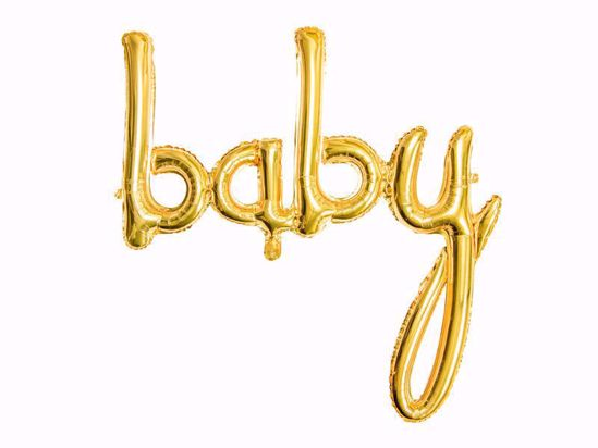 Picture of Baby Gold Script Balloon Arch