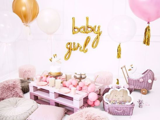 Picture of Baby Girl Gold Script Balloons