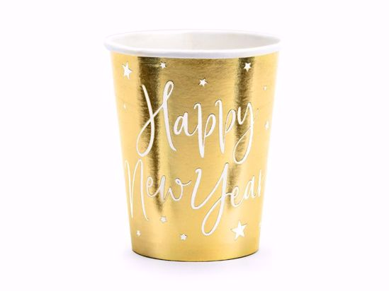Picture of Cups Happy New Year, gold, 220ml