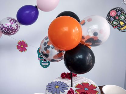 Picture of Balloon Cake Topper Halloween Orange Black