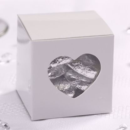 Picture of Rustic Wedding Heart Favour White Boxes