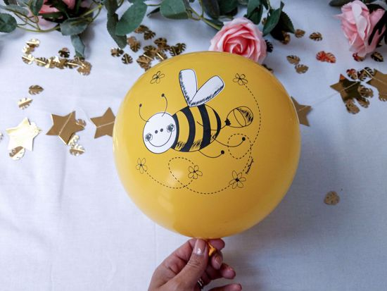 Picture of Balloon Cake Topper Yellow Bee