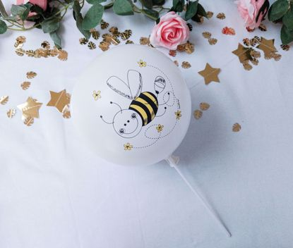 Picture of Balloon Cake Topper White Bee