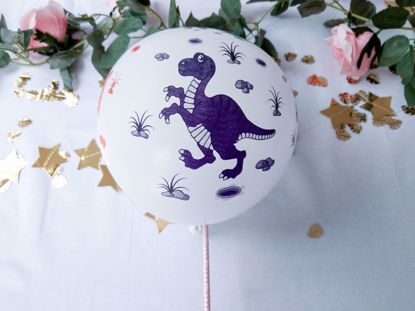 Picture of Balloon Cake Topper Dino Theme