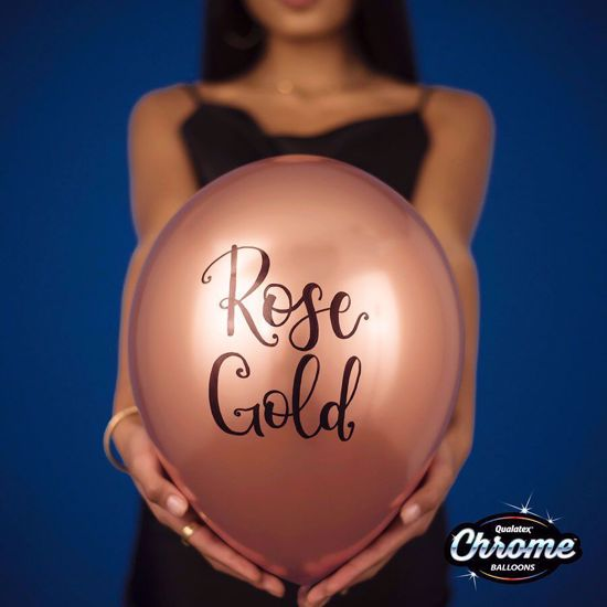 Picture of Rose Gold Chrome Balloons