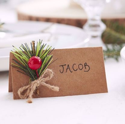 Picture of Christmas Kraft Place Cards