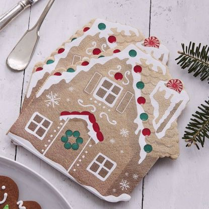 Picture of GINGERBREAD SHAPED PAPER NAPKINS