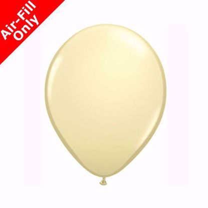 """Picture of 11"""" IVORY SOLID COLOUR LATEX BALLOONS (50)"""