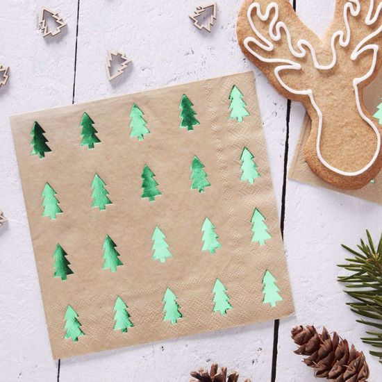 Picture of Christmas Tree Napkins Paper