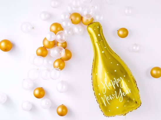 Picture of Bottle Balloon Gold Cheers
