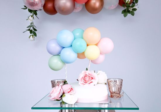 Picture of Pastel Balloons Cake Topper Arch Garland