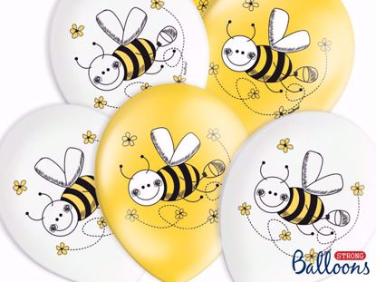 Picture of Bee Balloons Yellow White