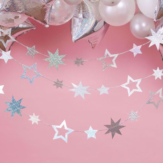 Picture of IRIDESCENT STAR HANGING GARLAND DECORATION