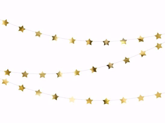 Picture of Gold star Garland Christmas Decorations
