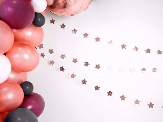 Picture of Rose Gold star Garland Christmas Decorations