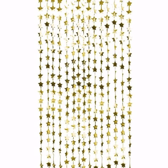 Picture of GOLD FOIL STAR BACKDROP CURTAIN DECORATION