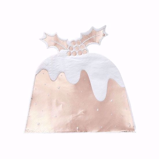 Picture of Rose Gold Napkins Pudding Paper Napkins Decorations Seasonal Christmas Gifts