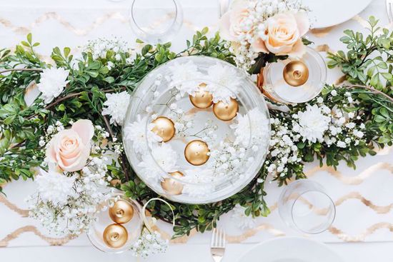 Picture of Gold Floating Candles