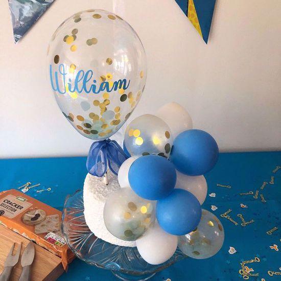 Picture of Balloon Cake Topper Custom Name Vinyl
