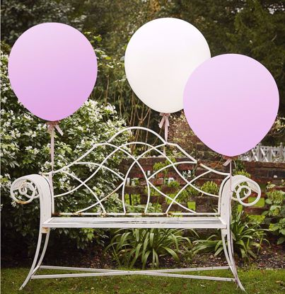 Picture of WHITE & PINK 36 INCH FEATURE BALLOONS