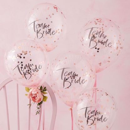 Picture of TEAM BRIDE CONFETTI BALLOONS - FLORAL HEN PARTY