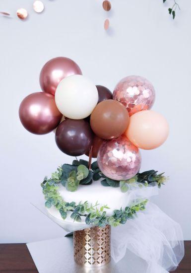 Picture of BALLOON CAKE TOPPER MINI GARLAND ROSE GOLD CHROME BLUSH