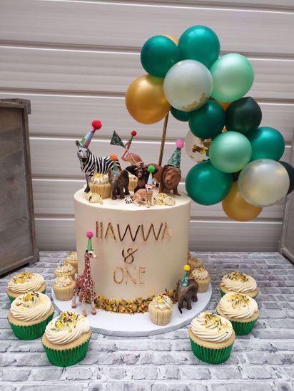 Picture of BALLOON CAKE TOPPER MINI GARLAND SAFARI TROPICAL