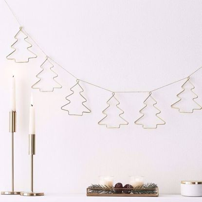 Picture of CHRISTMAS GOLD CONTEMPORARY BUNTING DECORATION