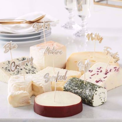 Picture of GOLD CHEESE BOARD PARTY FOOD PICKS