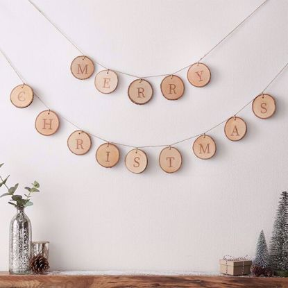 Picture of MERRY CHRISTMAS WOODEN BUNTING