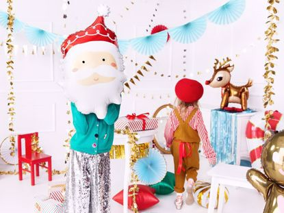 Picture of Santa Foil Balloon Christmas