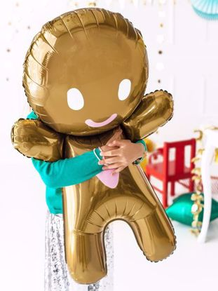 Picture of Gingerbread Man Foil Balloon Christmas