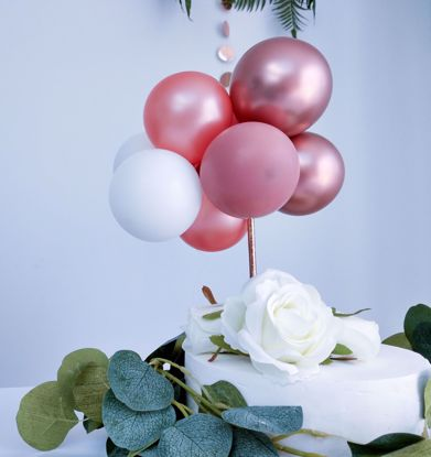 Picture of BALLOON CAKE TOPPER GARLAND ROSE GOLD CHROME