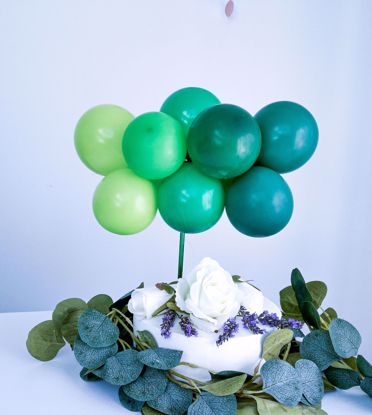 Picture of BALLOON CAKE TOPPER  GREEN OMBRE GARLAND SAFARI TROPICAL