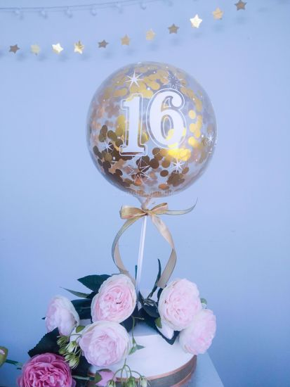 Picture of Balloon Cake Topper Age Number 21 30 50 60