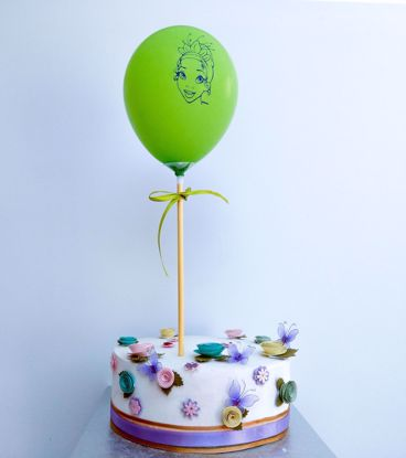 Picture of PRINCESS GREEN BALLOON CAKE TOPPER